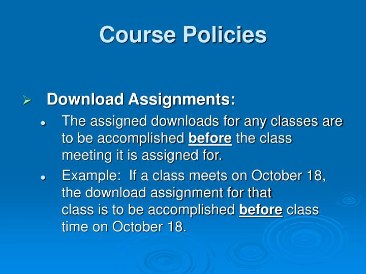 Course Policies