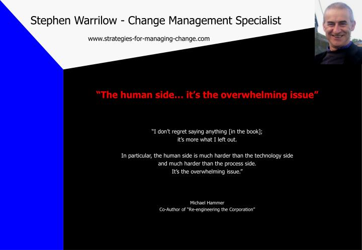 Stephen warrilow change management specialist www strategies for managing change com1