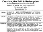 creation the fall redemption