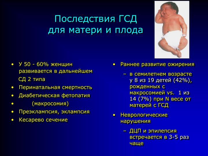 Гестационный диабет при беременности уровень сахара