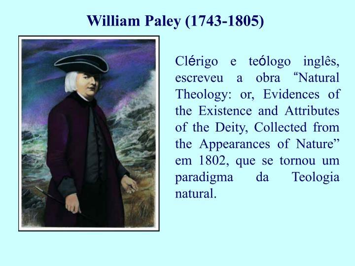 William Paley (1743-1805)