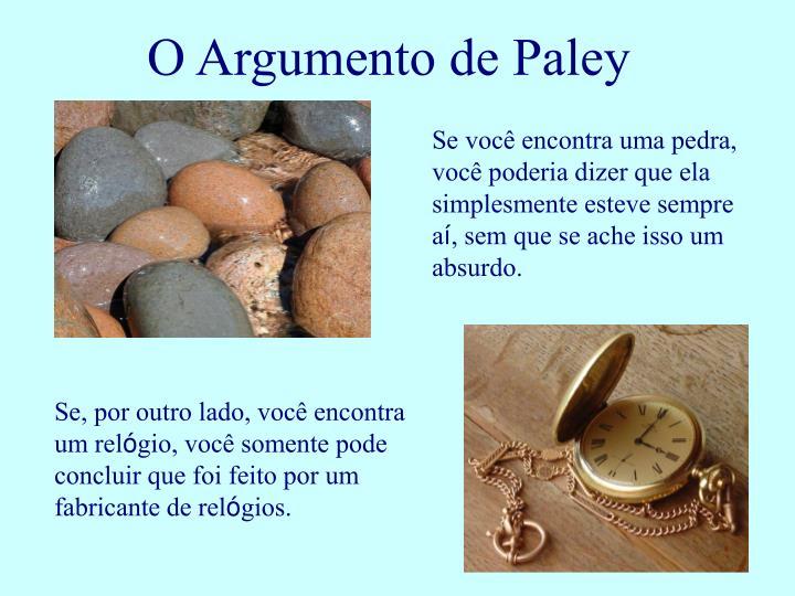 O Argumento de Paley