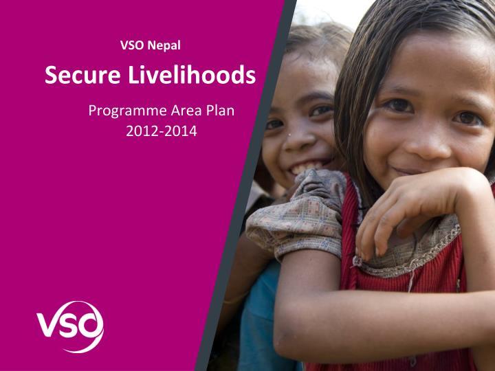 Vso nepal secure livelihoods