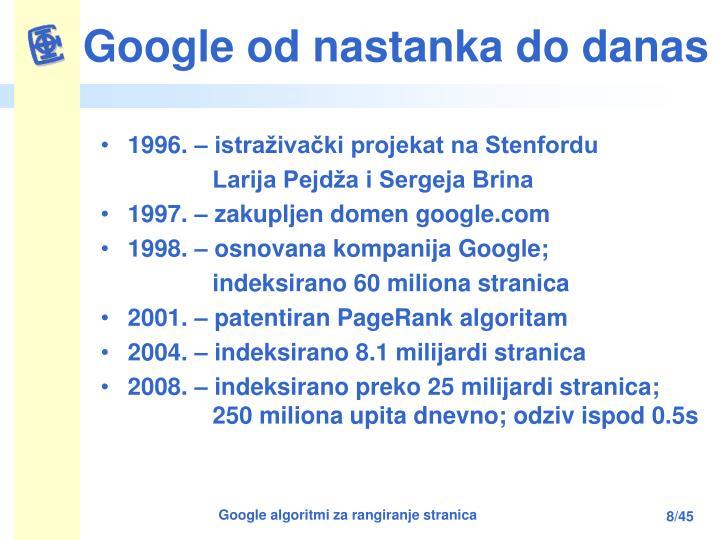 Google od nastanka do danas