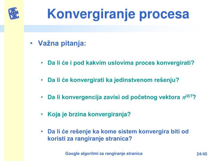 Konvergiranje procesa