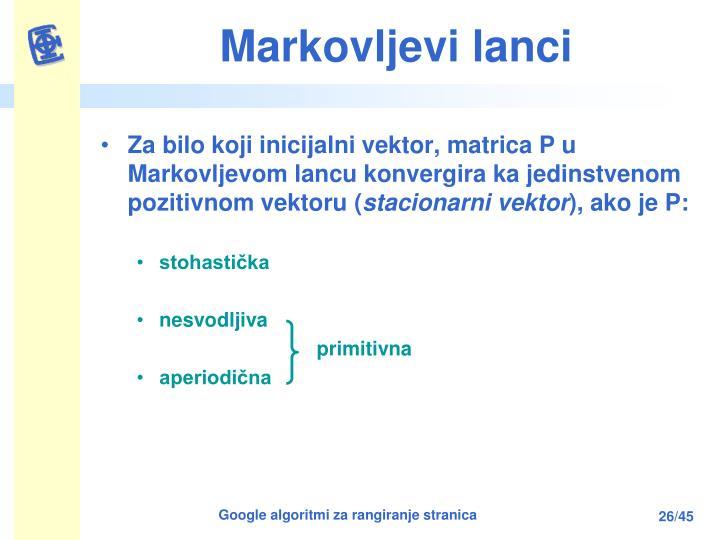 Markovljevi lanci
