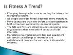 is fitness a trend