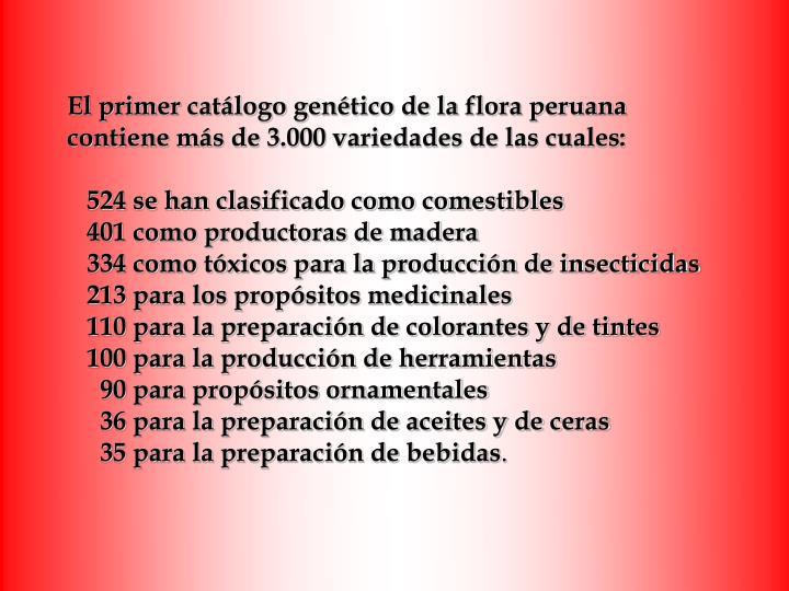 El primer catálogo genético de la flora peruana
