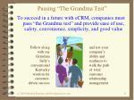 passing the grandma test