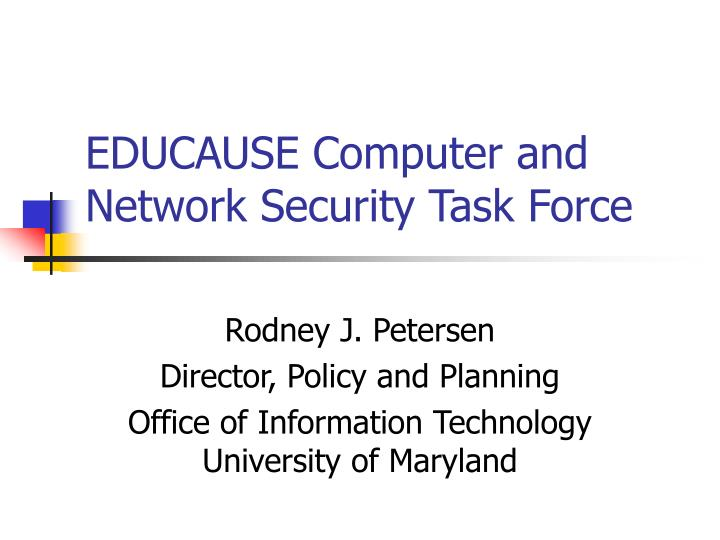 educause computer and network security task force n.