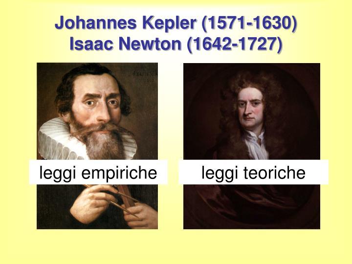 Johannes kepler 1571 1630 isaac newton 1642 1727