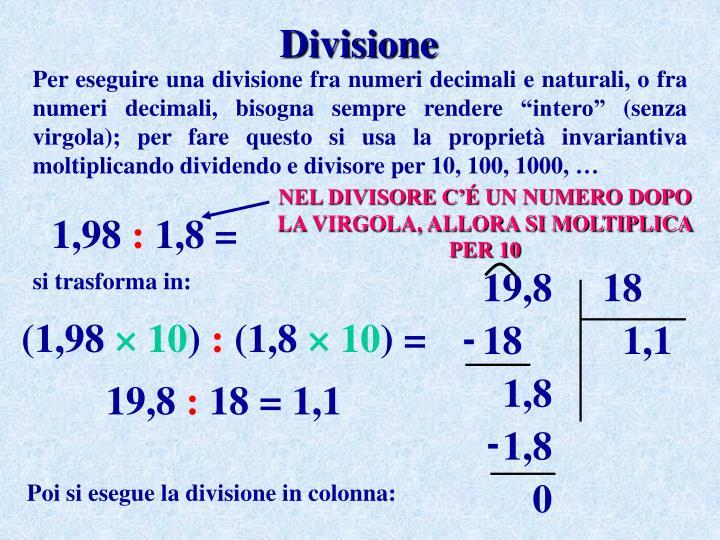 Ppt Operazioni Con Numeri Naturali E Numeri Decimali Powerpoint