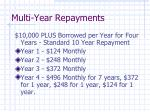 multi year repayments