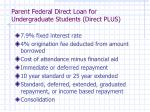 parent federal direct loan for undergraduate students direct plus