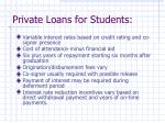 private loans for students