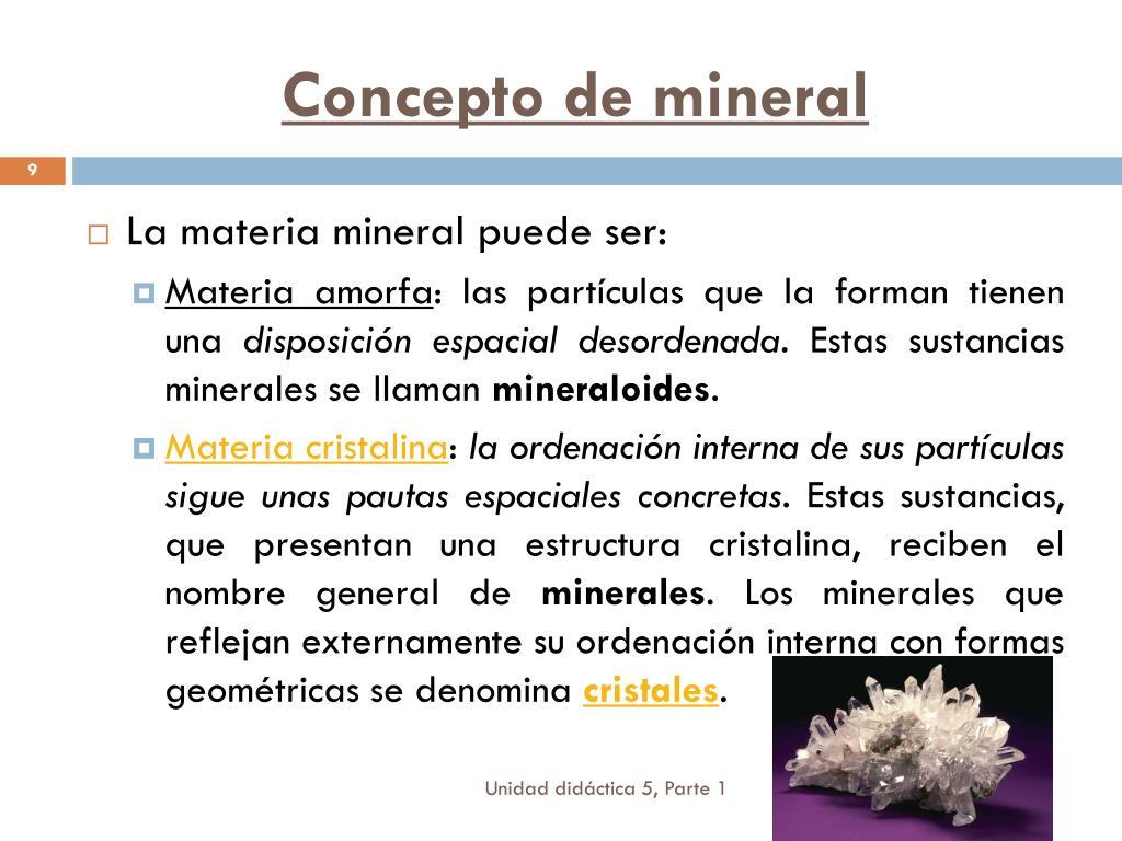 Ppt Unidad Didáctica 5 Los Minerales Powerpoint