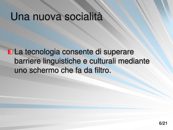 Una nuova socialità