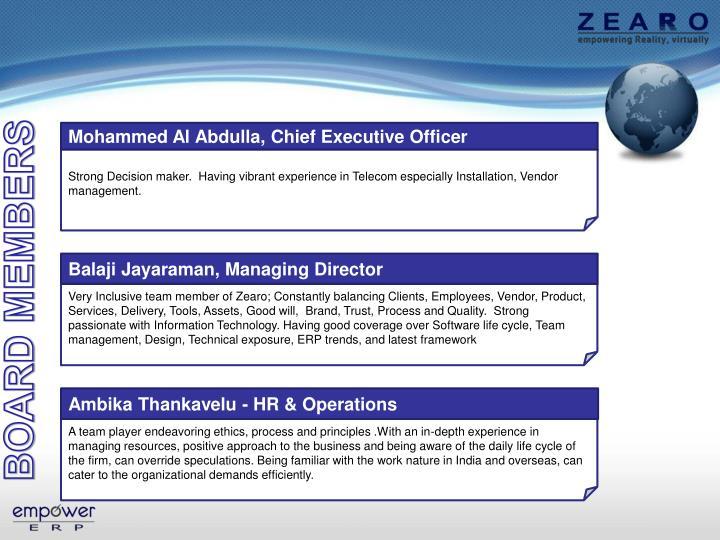 Balaji Jayaraman, Managing