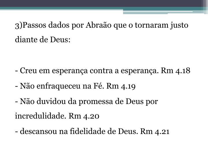 3)Passos dados por Abraão