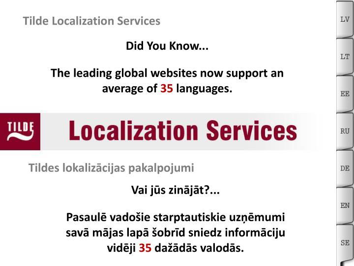 Tilde Localization Services