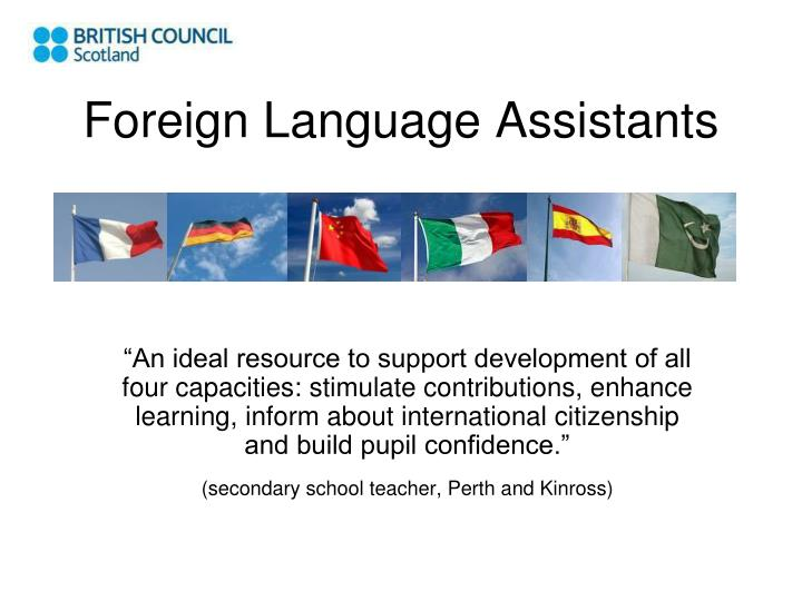 foreign language assistants n.