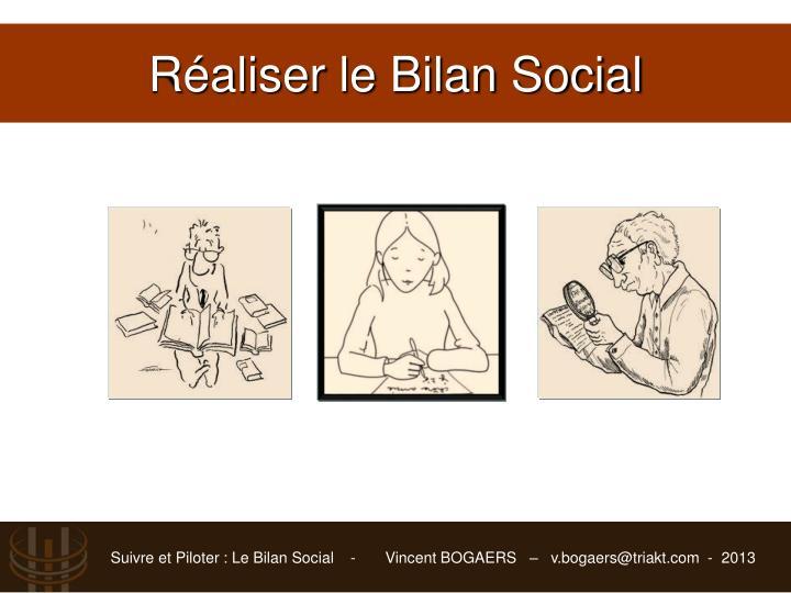Réaliser le Bilan Social