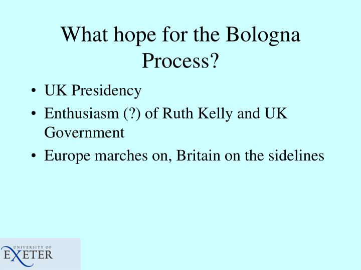 What hope for the Bologna Process?