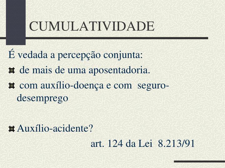 CUMULATIVIDADE