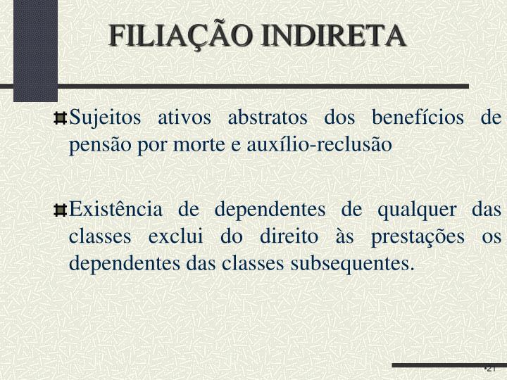 FILIAÇÃO INDIRETA
