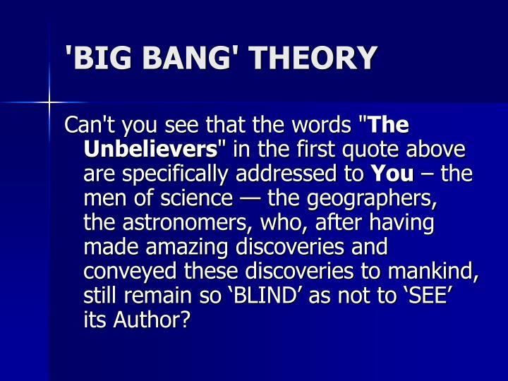 'BIG BANG' THEORY