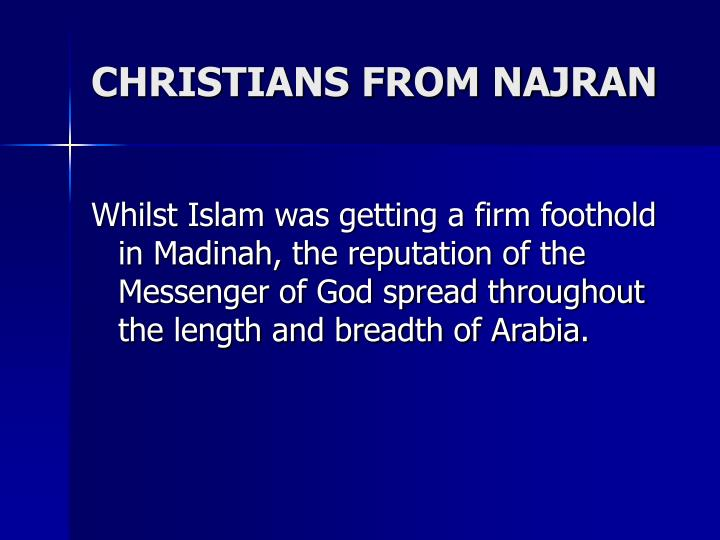 CHRISTIANS FROM NAJRAN