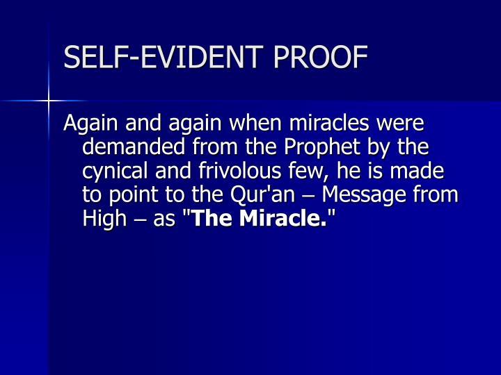 SELF-EVIDENT PROOF