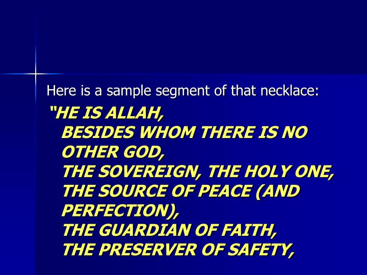 Here is a sample segment of that necklace: