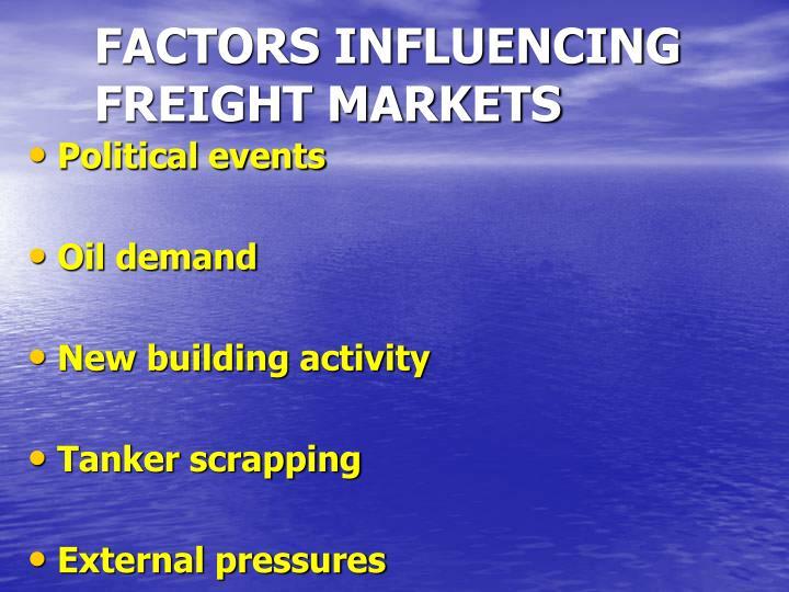 FACTORS INFLUENCING FREIGHT MARKETS