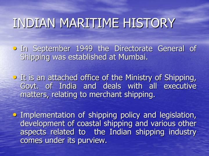 INDIAN MARITIME HISTORY