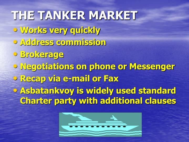THE TANKER MARKET