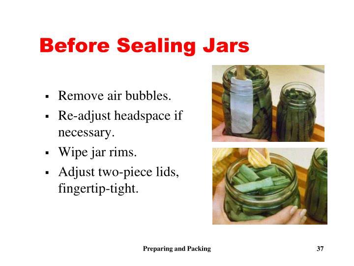 Before Sealing Jars