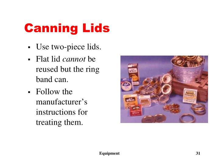 Canning Lids