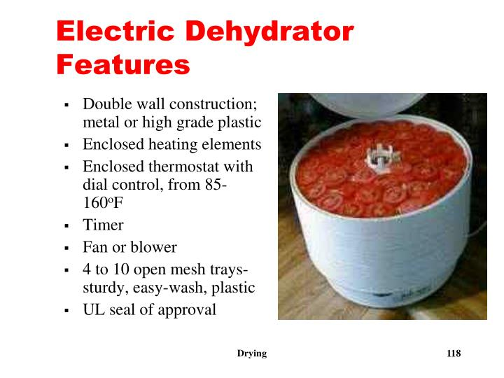Electric Dehydrator Features