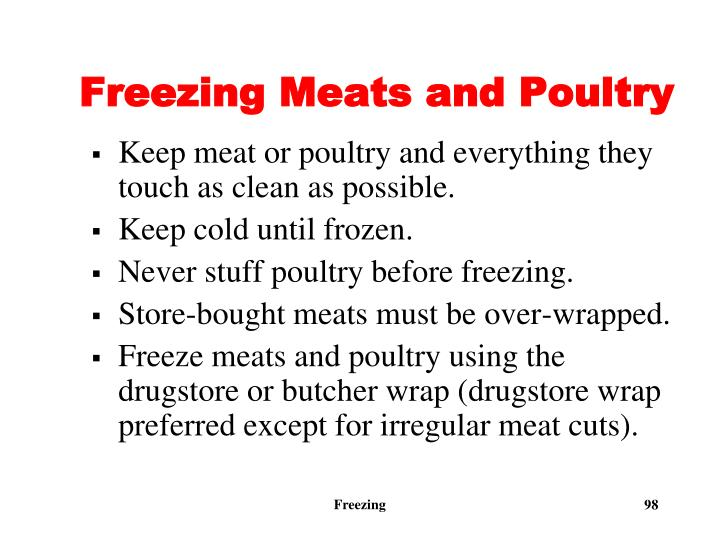 Freezing Meats and Poultry