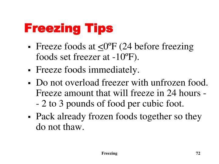 Freezing Tips