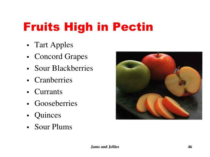 Fruits High in Pectin