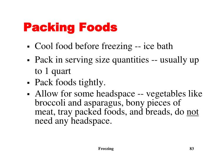 Packing Foods