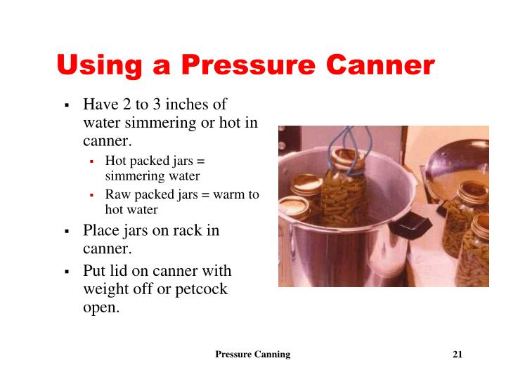 Using a Pressure Canner