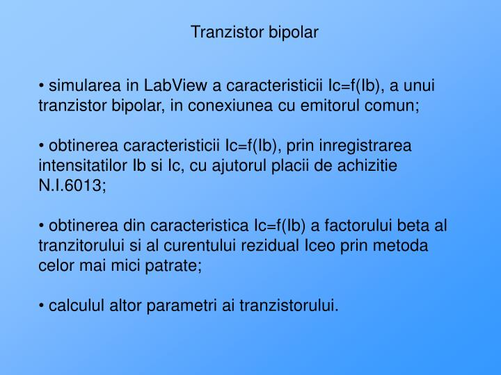 Tranzistor bipolar