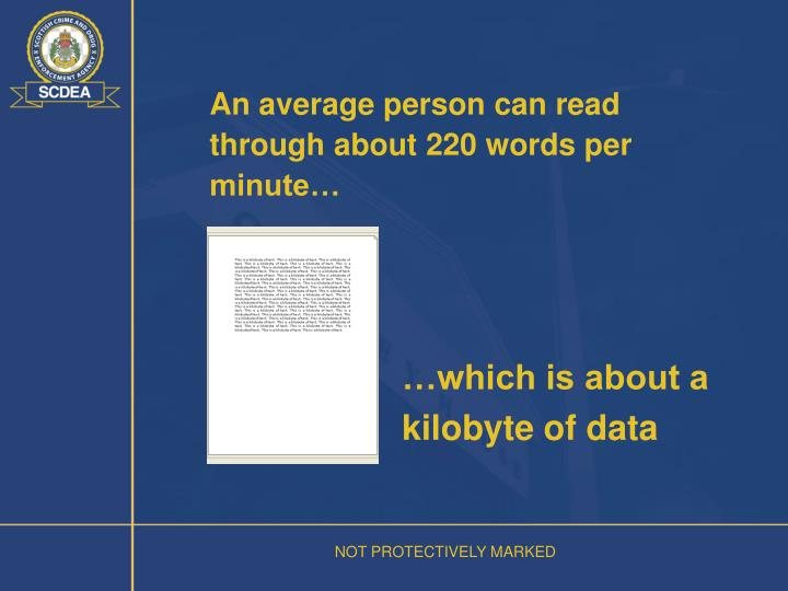 An average person can read