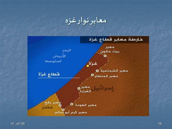 معابر نوار غزه