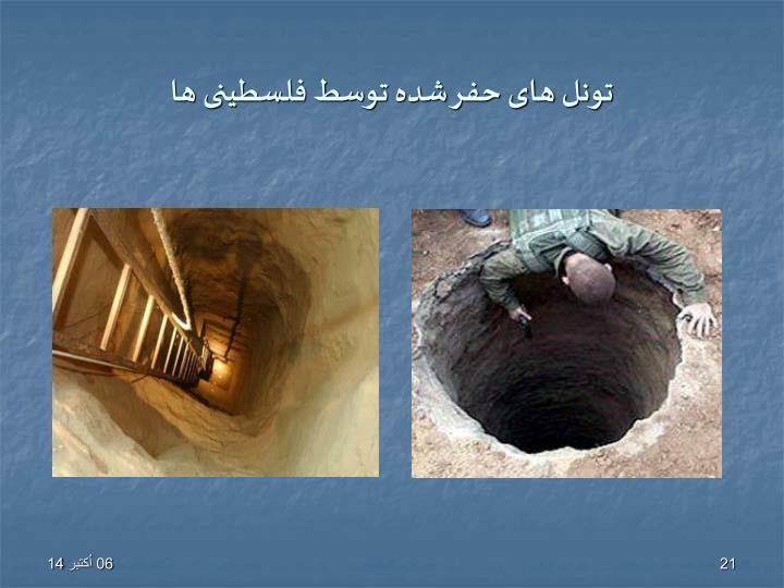 تونل های حفر شده توسط فلسطینی ها
