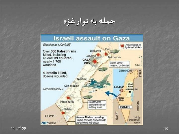 حمله به نوار غزه