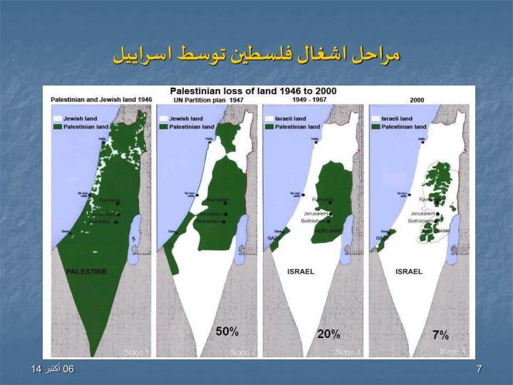 مراحل اشغال فلسطین توسط اسراییل